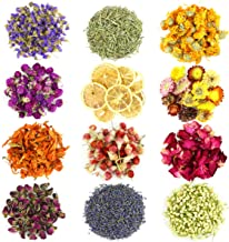 Wpxmer 12 Pack Different Dried Herbs, Natural Dried Flowers Kits for Candle Making, Resin Jewelry, Bath Bombs, 20g Per Pack