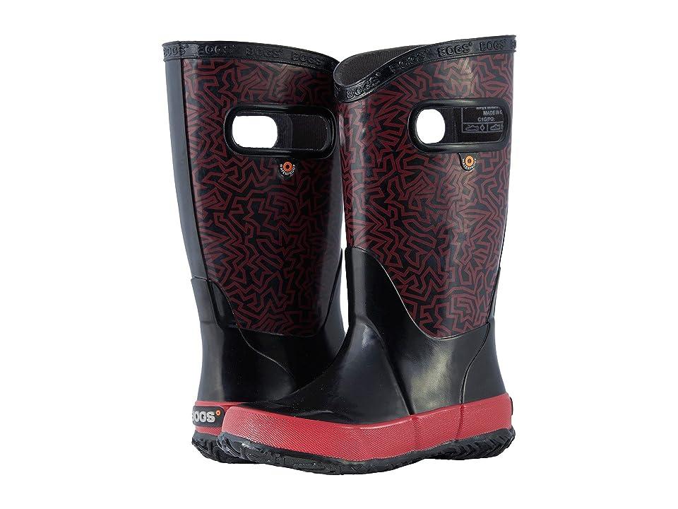 Bogs Kids Rain Boot Maze (Toddler/Little Kid/Big Kid) (Black Multi) Boys Shoes