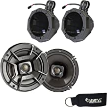 "$299 » SSV Works US2-C65U-185 Speaker Enclosures w/ 1.85"" Clamps + Polk DB652 6.5"" Coaxial Speakers with Marine Certification"