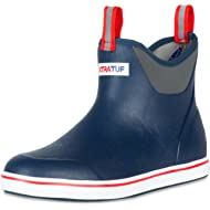 """Xtratuf 22733-NVY-100 Performance Series 6"""" Men's Full Rubber Ankle Deck Boots, Navy & Red (22733)"""