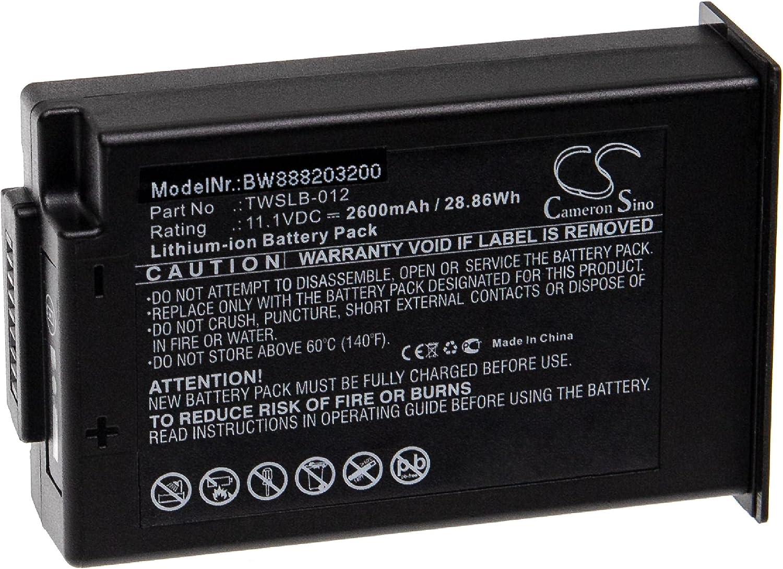 vhbw Batería recargable reemplaza Edan TWSLB-012 para tecnología médica (2600 mAh, 11,1 V, Li-Ion)