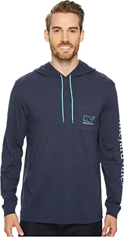 Vineyard Vines - Long Sleeve Two-Tone Whale Hoodie Pocket Tee
