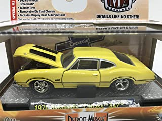 M2 Machines by M2 Collectible Detroit-Muscle 1970 Oldsmobile Cutlass 442 1:64 Scale 09-07 Yellow/Black Details Like NO Other!
