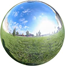 Lily's Home Glass Gazing Mirror Ball, Colorful and Shiny Addition to Any Garden or Home, Ideal As a Housewarming Gift, Sparkling Silver (12 Inches Diameter)