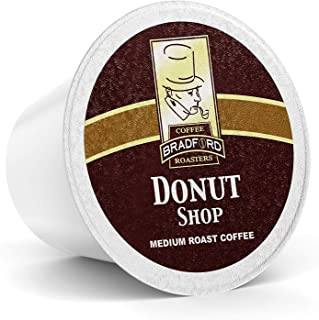 100 Ct. Donut Shop for Keurig Single-Serve K-Cup Pods, 20% more coffee per cup by Bradford Coffee