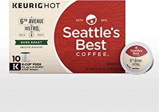 Seattle's Best Coffee 6th Avenue Bistro (Previously Signature Blend No. 4) Dark Roast Coffee, 6 boxes of 10 (60 total K-Cup pods)