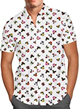 Disney Villains Mouse Ears Mens Button Down Short Sleeve Shirt