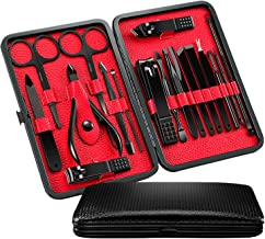 Manicure Pedicure Kit, HathLove Nail Clippers, Professional Grooming Kit, Nail Scissors Cuticle Trimmer Tools with Luxury Travel Case, Set of 18