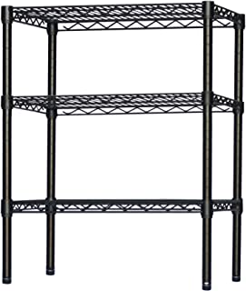 Black Wire Shelving with 3 Shelves - 8