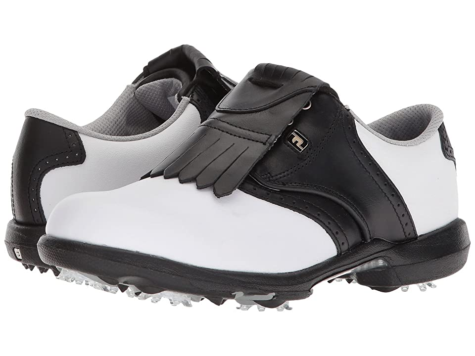 FootJoy DryJoys Cleated Traditional Blucher Saddle (White/Black) Women