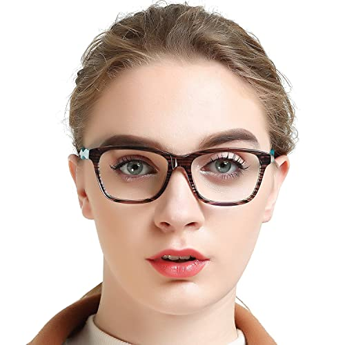 be9ebcca60 OCCI CHIARI Womens Rectangle Stylish Eyewear Frame Non-Prescription Clear  Eyeglasses