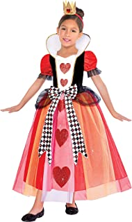 Girls Queen of Hearts Costume, Small (4-6)- 2 pcs.