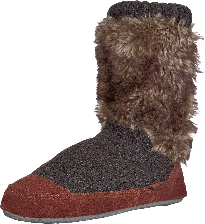 Acorn Unisex-Kid's Cozy Slouch Boot Slipper with Indoor/Outdoor
