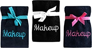 Home Bargains Plus Luxury 100% Cotton Makeup Removal and Cleansing Embroidered Finger-Tip Towels and Wash Cloths 3 Pack Wash Cloth 3 Pack Multi