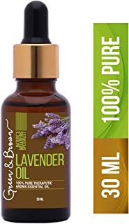 Green & Brown Lavender Essential Oil Pure, Natural and Organic For Aromatherapy, Green, 30 ml
