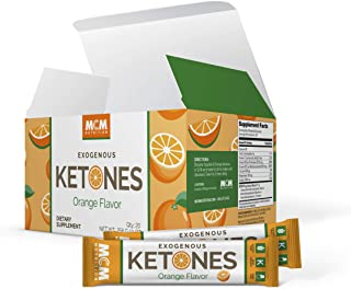 Exogenous Ketones Powder & BHB (Orange) - Ketone Drink for Ketosis & Boosts Energy –– Keto Drink Mix - Fast Acting Ketosis Packets - Ketones Supplement for Ketosis (20 Keto Packets) by MCM Nutrition