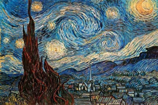The Starry Night 1889 by Vincent Van Gogh Art Cool Wall Decor Art Print Poster Print 36x24