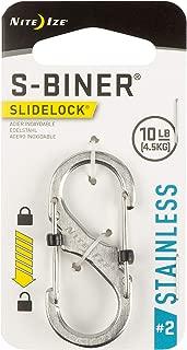 Nite Ize Size-2 S-Biner SlideLock Dual Carabiner, Locking Gates, Stainless-Steel
