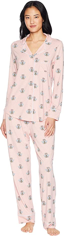 Queen Bee Pima Knit Pajama Set