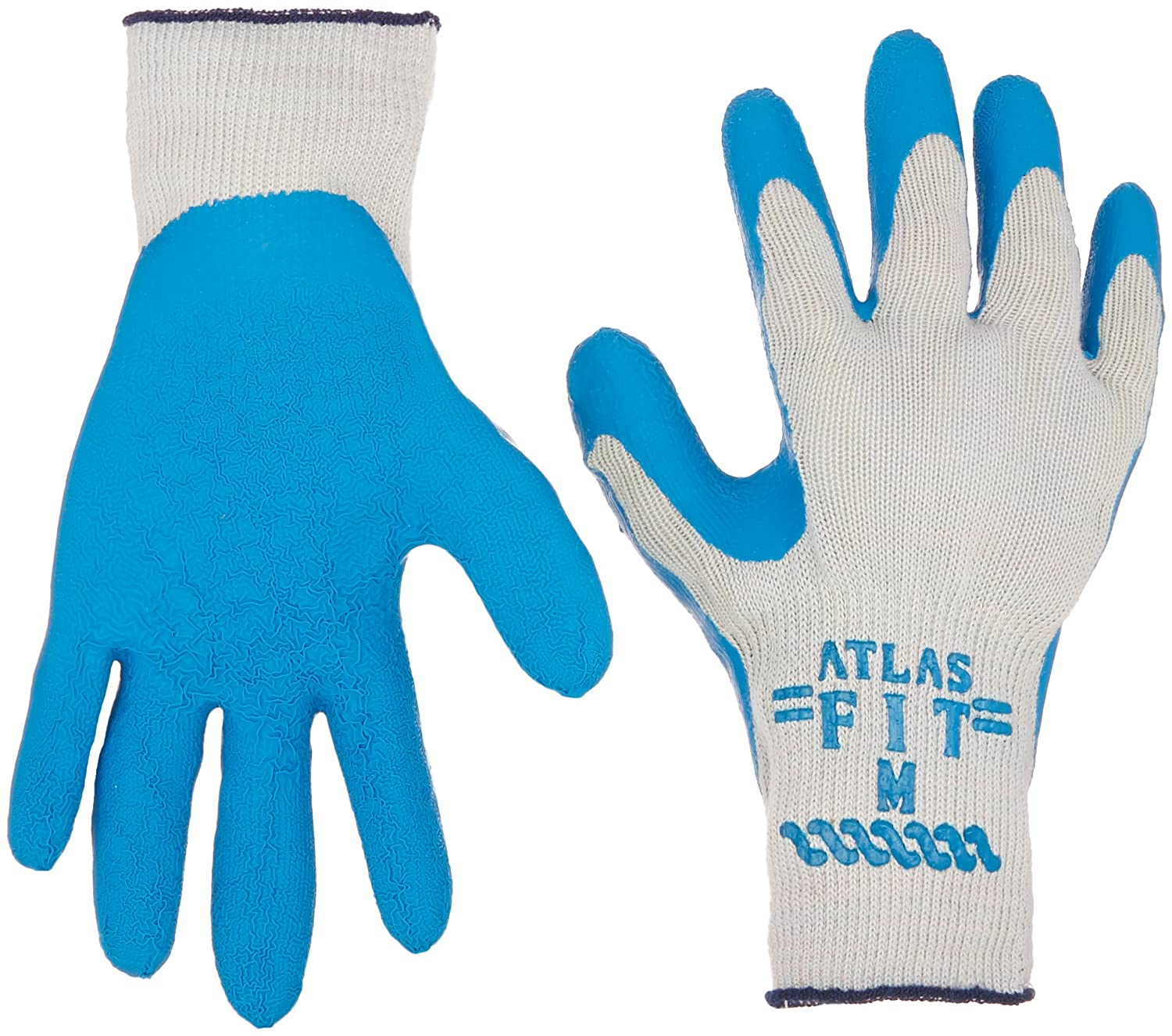 Atlas mart Fit 300 Size Special price for a limited time Medium Coated 12 Rubber Pairs Glove