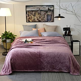 NOOS Super Soft Flannel Throw Blanket for Sofa and Bed, Soft Warm Fleece Shaggy Bed Blankets, All Season Microfiber Fuzzy Plush Blanket Queen Full Twin Throw Size