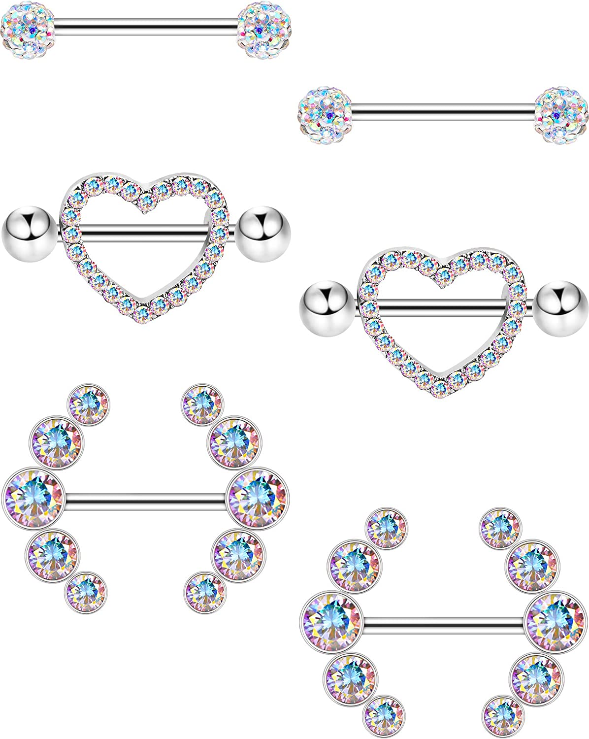 1 Barbell TURQUOISE Natural HOWLITE Barbell Industrial Scaffold Tongue Nipple Rose Gold Yellow Gold 316L Surgical Steel 14g 6mm BallEnds