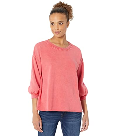 Mod-o-doc Washed Cashmere French Terry 3/4 Puffed Sleeve Top