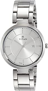 Titan Ladies Neo-Ii Analog Silver Dial Women's Watch-NK2480SM07