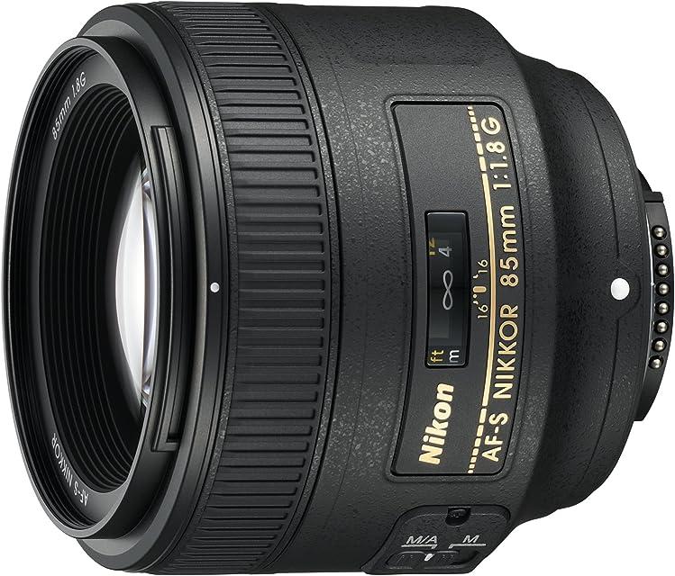 Nikon AF-S 85mm F1.8 G - Objetivo para Nikon (distancia focal fija 85mm apertura f/1.8) color negro
