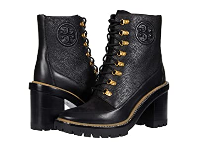 Tory Burch 95 mm Miller Lug Sole Bootie (Perfect Black/Perfect Black/Perfect Black) Women