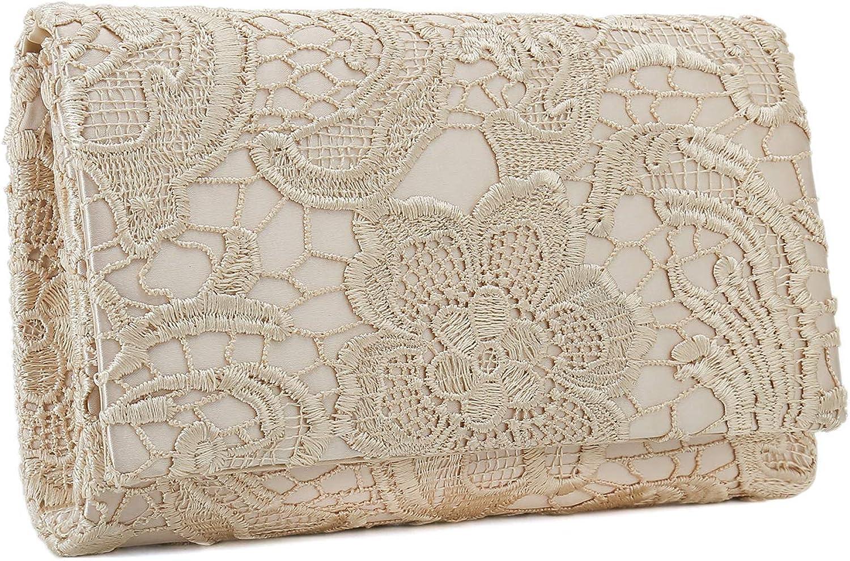 Charming Tailor Lace Formal Bag Elegant Wedding Clutch Purse Bridal Handbag for Women