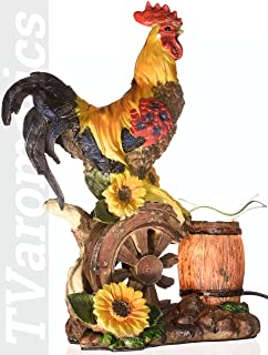 Rooster Polyresin Electric Aroma Lamp Oil and Wax Tart Warmer