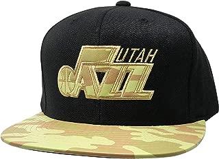 Mitchell & Ness Utah Jazz Adjustable Snapback Hat NBA Basketball Flat Bill Baseball Cap