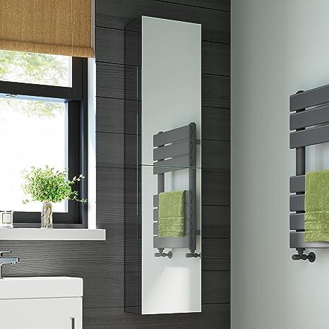 1300 X 300 Large Stainless Steel Bathroom Mirror Cabinet With 2 Doors Ibathuk Amazon De Home Kitchen