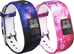 BeneStellar Garmin Vivofit 3 and Vivofit JR Fitness Bands with Secure Watch Clasp Silicone Replacement Bands for Garmin Vivofit 3 and Vivofit JR[fits 6~8.5 inch Wrists]