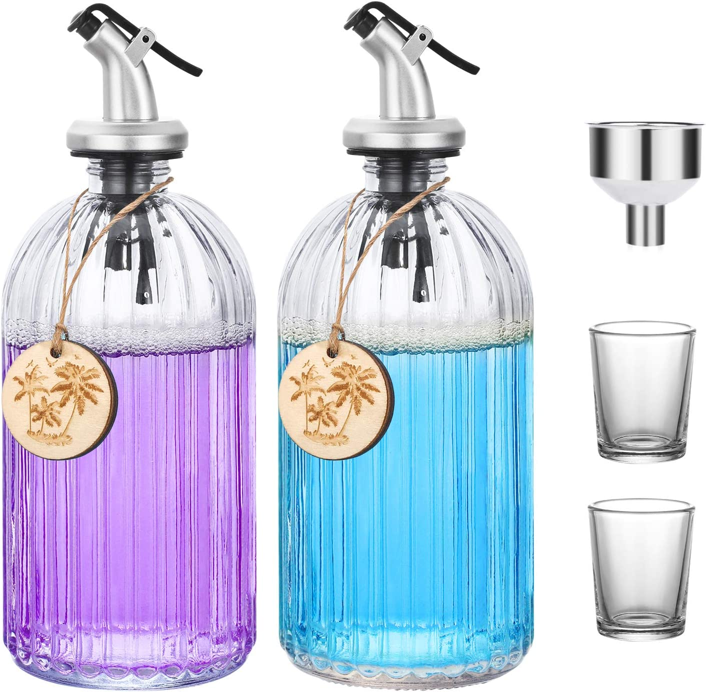 Aozita Clear Glass Mouthwash Refillable excellence OFFicial store Bottle - Dispenser