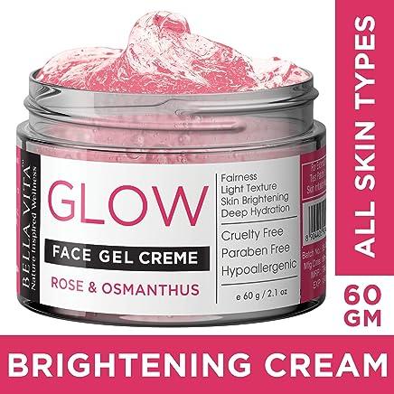 Bella Vita Organic Face Gel Night Cream For Women & Men All Skin Types With Rose & Osmanthus | Radiance & Shine