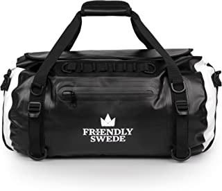 The Friendly Swede Waterproof Duffel Bag Backpack, Roll Top Dry Bag for Gym, Travel and Sports - 35L VAXHOLM