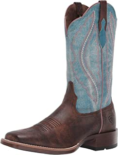 Ariat Women's Women's Primetime Western Boot, tack Room Chocolate/Lapis, 6.5 B US