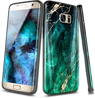 NageBee Case for Samsung Galaxy S6 Edge, Ultra Slim Thin Glossy Stylish Protective Cover Phone Case (Not Fit Galaxy S6) -Emerald Marble
