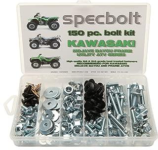 150pc Specbolt Kawasaki Utility ATV Bolt Kit for KLT KSF KLF KEF KVF KSV & KLF models Quad BRUTE FORCE BAYOU LAKOTA SPORT MOJAVE PRARIE ADVANTAGE CLASSIC & V FORCE 220 250 300 360 400 620 650 700