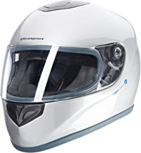 Ultrasport Moto Casco de Fibra de Vidrio FH-3, Plateado, L
