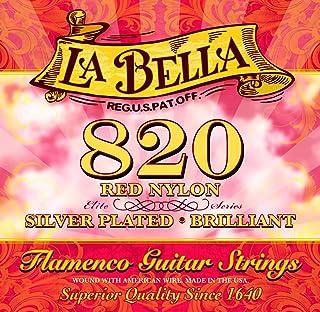 Labella L820 Flamenco gitaarsnaren gemaakt van nylon, gemiddelde spanning Nylon Rouge Nylon Rouge
