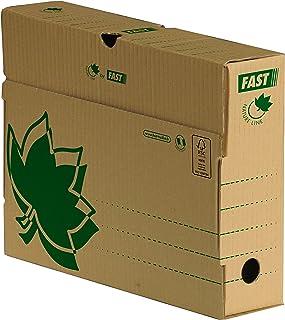 Fast Nature Line Lot de 10 Boîtes Archives en Carton Dos 8cm Ecru