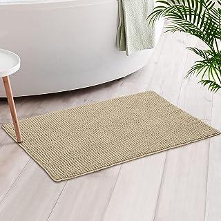 Luxury Chenille Bath Mat Rug, Extra Soft and Absorbent Shaggy Bathroom Rugs, Machine Washable, Non-Slip Plush Carpet Runne...