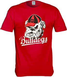 New World Graphics Georgia Bulldogs Vintage Distressed T Shirt - 3 Colors - Red, Black, Gray