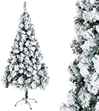 WSJTT Seasonal Décor Christmas Trees Artificial Christmas Tree Snow Effect PVC Leaf Flocking Artificial Large Snow Scene A...