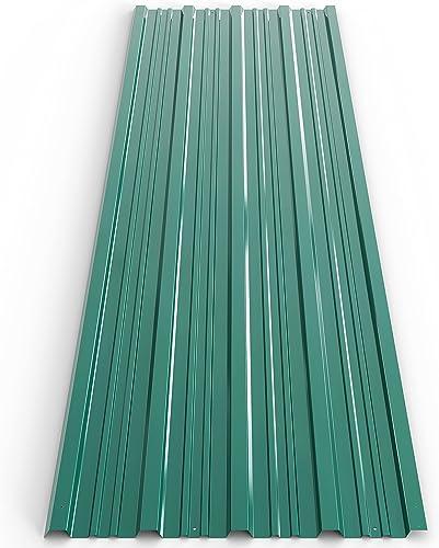 12x plaques tôles profilée/ondulée 129 x 45 cm =7m² résistantes aux intempéries et à la rouille protection bricolage ...