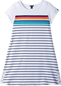 Tommy Hilfiger Kids Side Lace-Up Dress (Big Kids)