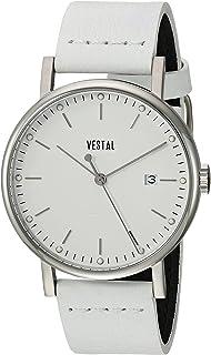ساعة فيستل سوفيستيكا 36 من الستانلس ستيل مع حزام من الجلد، ابيض، 18 موديل (SP36L03.WH)